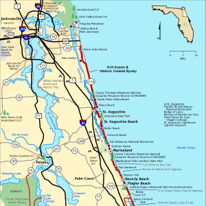 Scenic A1A Map Image