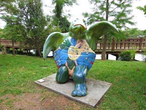 Bird Island Sea Petal Turtle Statue